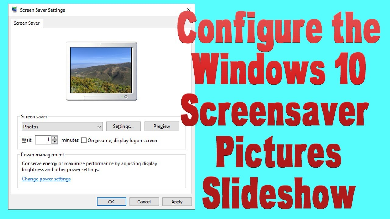 Configure the Windows 10 Screensaver Pictures Slideshow: UPDATED