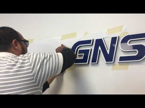 How to Install Dimensional Gatorfoam Letters - FASTSIGNS