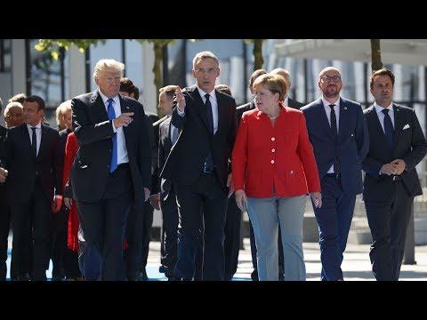 Tổng Thống Donald Trump đến Brussels, tạo cảm thông với EU và NATO
