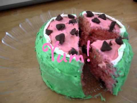 Easy Bake Oven 4 Layer Watermelon Cake Youtube