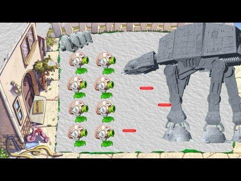 Plants vs. Zombies Star Wars Episode 1 (Garden variety Zombie Strikes Back)
