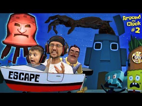 ESCAPE SQUIDWARDS House!!  Giant Jelly vs FGTEEV (Spongebob Scarepants #2)
