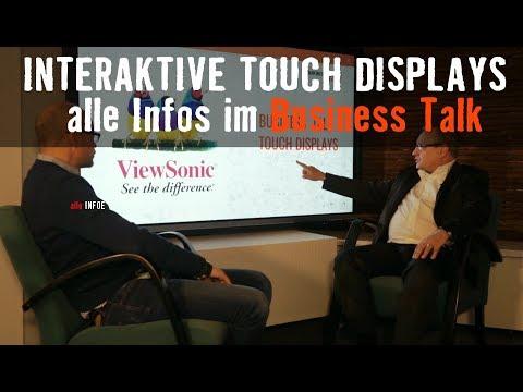 Interaktives Touch Display alle Infos im Business Talk mit ViewSonic