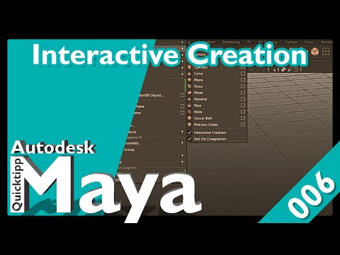 Quicktipp 006 Autodesk Maya Interactive Creation