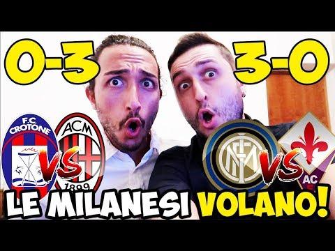 [CHE ESORDIO!] CROTONE-MILAN 0-3 | INTER-FIORENTINA 3-0
