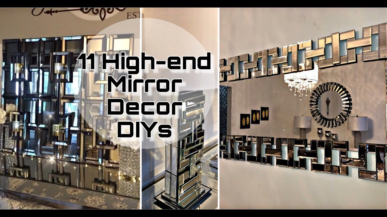 Marvelous 11 High End Designer Inspired Mirror Decor DIYs You Need To Try    Inexpensive Home Decor✨