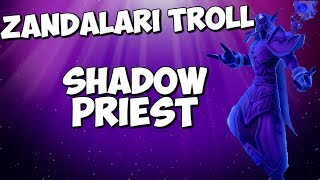 Zandalari Troll Shadow Priest Casting Animations!!