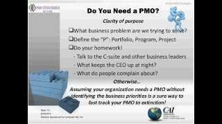 The Building Blocks Of An Effective And Sustainable Pmo