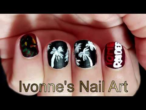 How To Shadow Of The Tomb Raider Inspired Nail Art Tutorial Youtube
