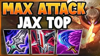 100-0 ANY CHAMPION INSTĄNTLY WITH MAX ATTACK JAX STRATEGY! JAX TOP GAMEPLAY! - League of Legends