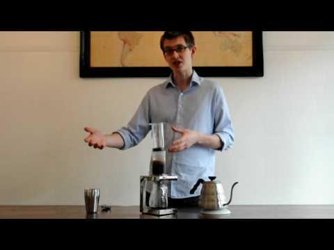 James Hoffmann Demonstrating The Aeropress Coffee Maker