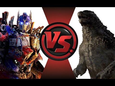OPTIMUS PRIME vs GODZILLA!! Cartoon Fight Club Episode 12 - Ruslar.Biz