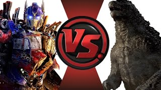 OPTIMUS PRIME vs GODZILLA!! Cartoon Fight Club Episode 12