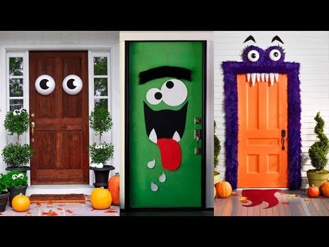 30 Best Halloween Door Decorations Ronycreativa English Channel