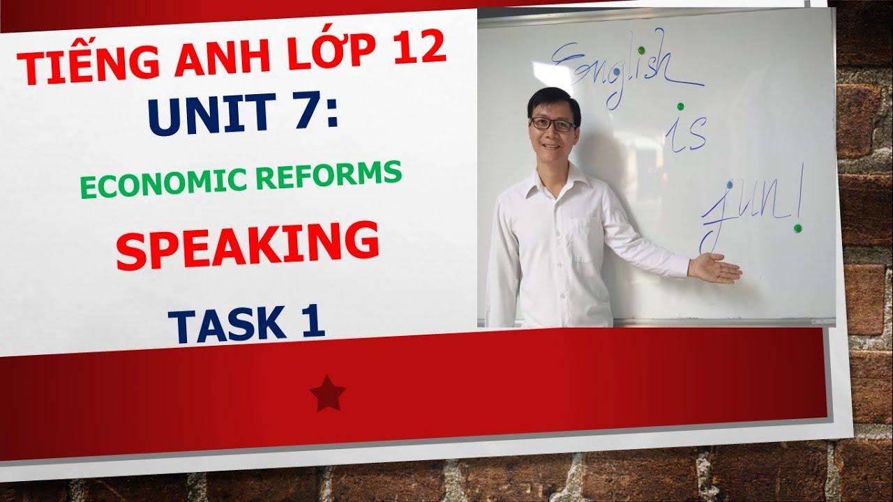 Tiếng Anh lớp 12 – Học SGK – Unit 7: Economic reforms – Speaking – Task 1