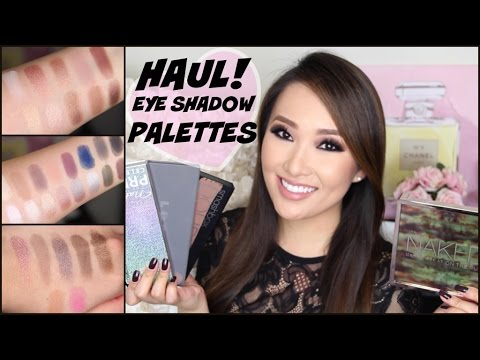 MAKEUP HAUL! NEW EYESHADOW PALETTES + TOP GIFT PICKS/FAVORITES w/ Swatches | hollyannaeree