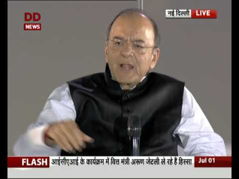 FM Arun Jaitley addresses ICAI function in IG stadium, Delhi on Chartered Accountants Day