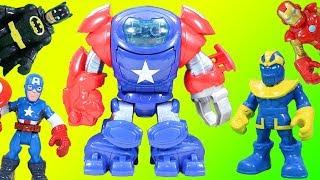 Marvel Captain America Space Command Armor with Thanos vs. Batman & Transformers