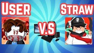 Straw Vs User On Roblox Jailbreak!! PC Vs. PC
