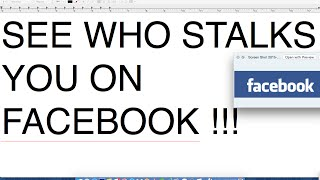 HOW TO SEE WHO STALKS YOU ON FACEBOOK !!!