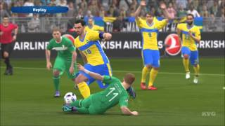 PES 2016 - UEFA Euro 2016 - Ireland vs Sweden | Gameplay (HD) [1080p60FPS]