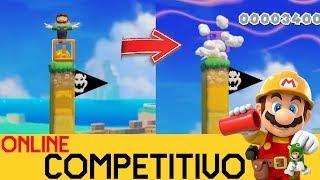 TROLLEO JAPO EN EL LUGAR MÁS PILLO 😡  - COMPETITIVO ONLINE #7 | Super Mario Maker 2 - ZetaSSJ