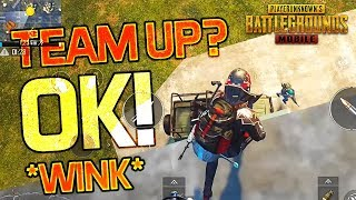 HE TRIED TO TEAM UP WITH ME! PUBG Mobile