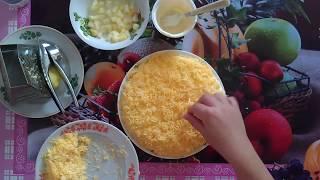 Простой и вкусный ананасовый салат