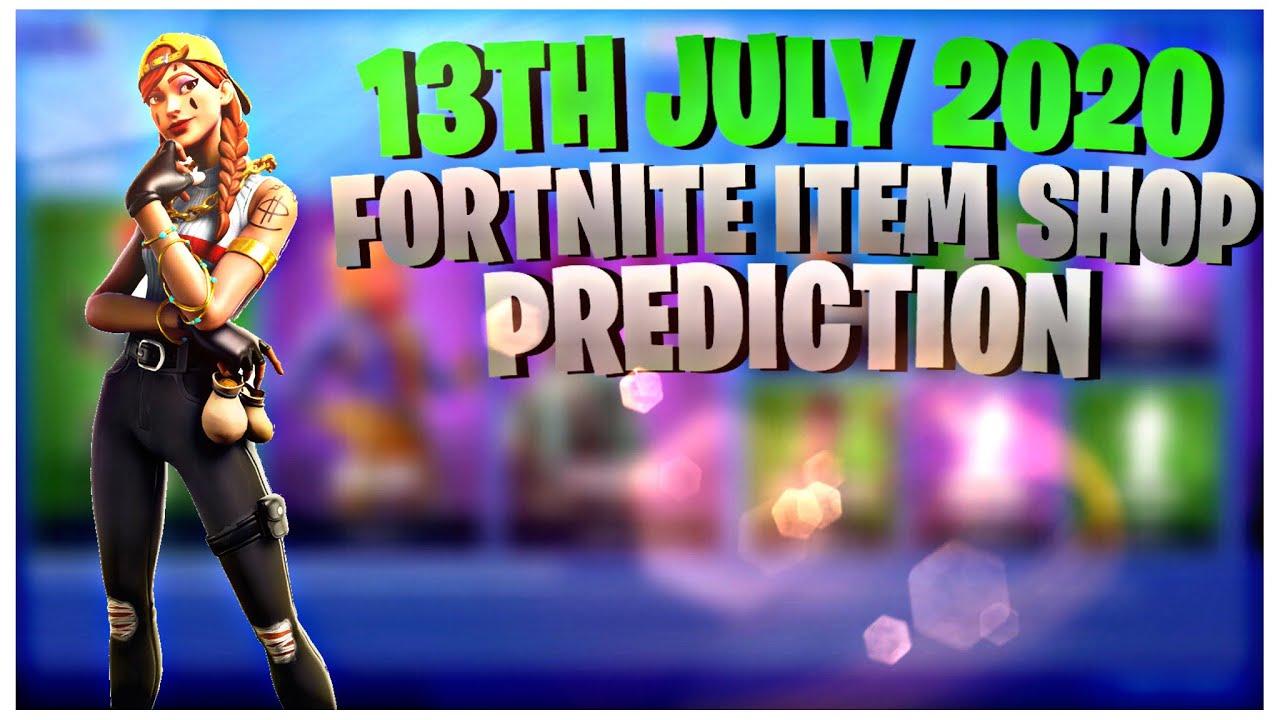 Fortnite Item Shop Prediction - 13 July 2020