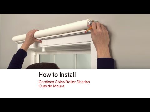 Bali Blinds | How to Install Cordless Solar/Roller Shades - Outside Mount