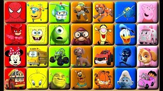 Learn Colors | Video for Kids | Puzzle Blocks Games | Cartoon Characters