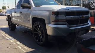 CHEVY SILVERADO ON NEW DUBS GLOSS BLACK 22""
