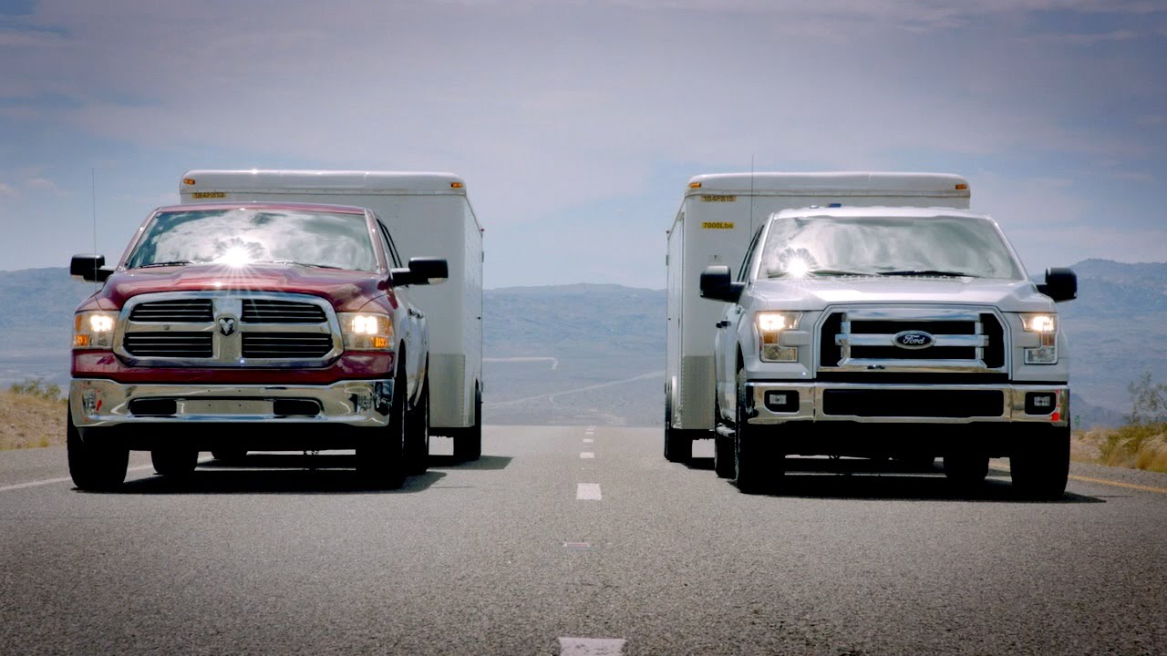 2015 Ford F-150 towing test VS. Ram 1500 & Chevy Silverado ...