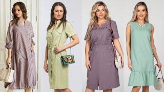 Дешевые платья из натуральных тканей Красивые летние платья из хлопка и льна