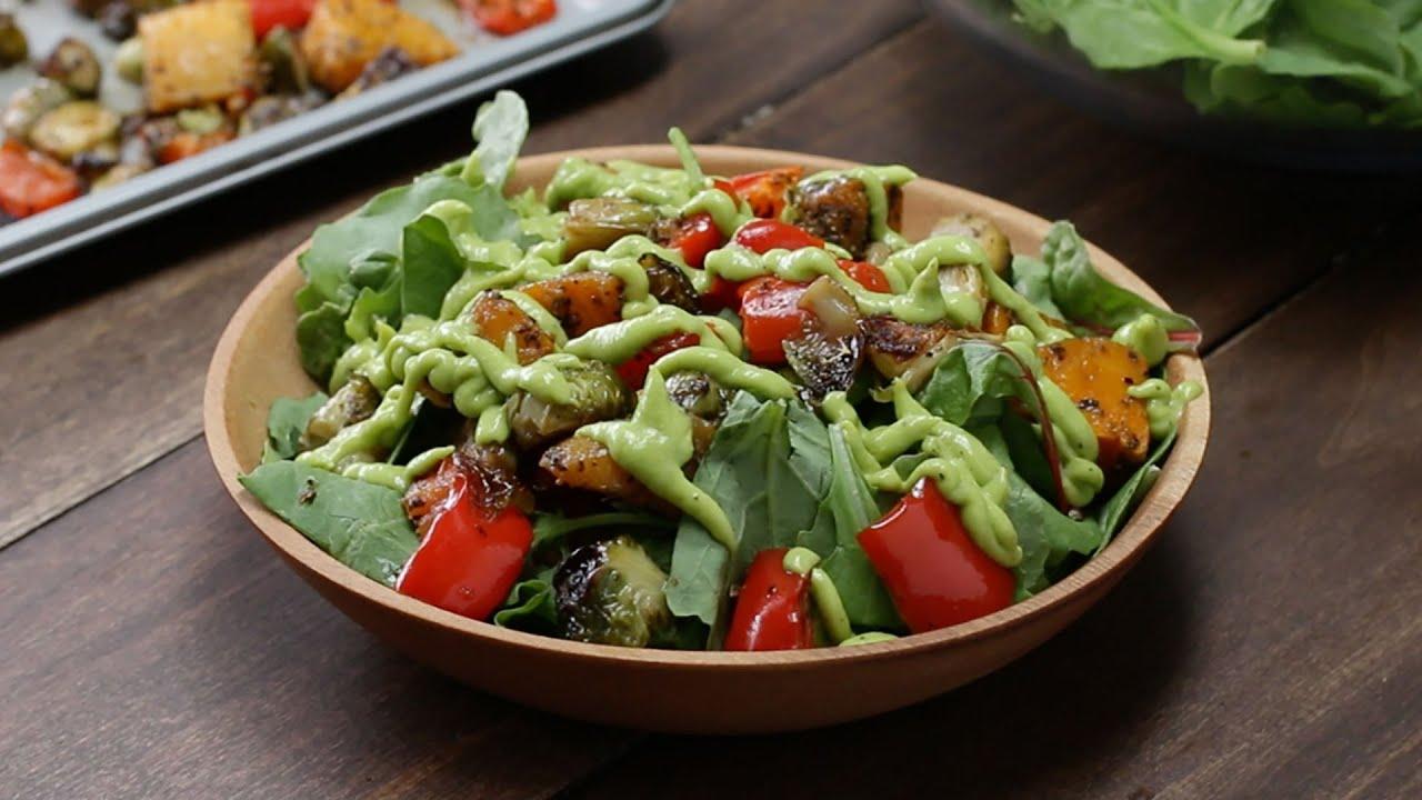 Recipes for roast vegetable salad