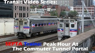 TVS-SEPTA Trains: Peak Action At The Commuter Tunnel Portal