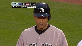 NYY@BOS: Jeter opens the scoring with an RBI single