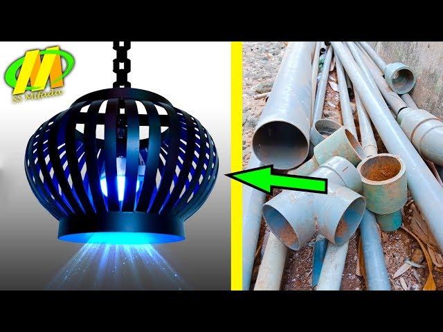 LUAR BIASA Kerajinan Lampu Lampion dari PIPA AIR #handicraft