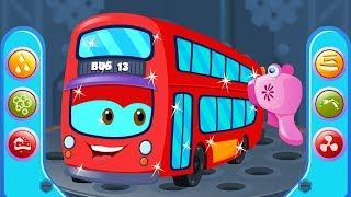 London Bus | Car Wash For Kids | Street Vehicles | Cartoon Shows By Kids Channel