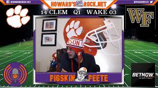 LIVE Clemson Tigers vs Wake Forest Demon Deacons Reaction | College Football