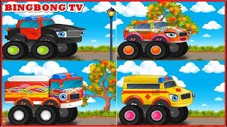 Car wash | Car cartoon for kids | Police car , Fire Truck cartoon | BingBong TV
