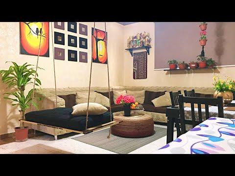DIY Dining Room Makeover / Indoor Swing / Home Office Desk / Crafts