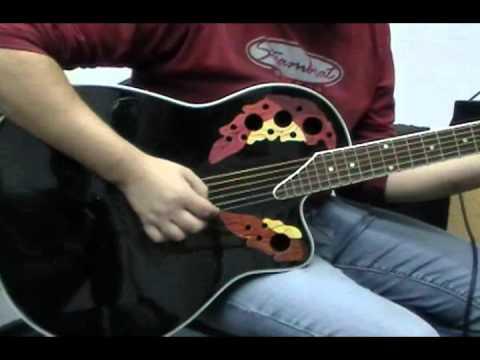 Guitarra Electro Acustica Ovation cc48 musicapilar - YouTube