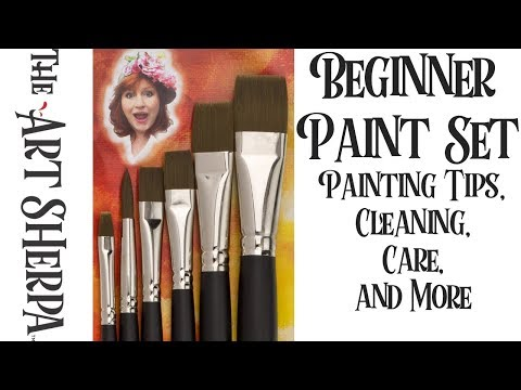 The Beginner Paint Set  brushes Painting Tips Care and Cleaning The Art Sherpa