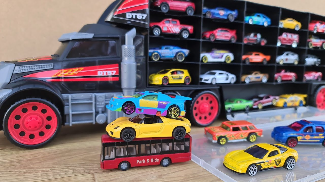 Car models Transportation by Truck My favorite set of welly and Hot Wheels