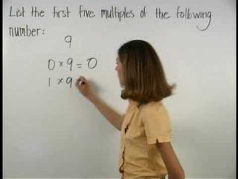 Multiples of Numbers - MathHelp.com - Math Help