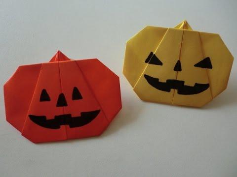 花 折り紙 折り紙 かぼちゃ 折り方 : youtube.com