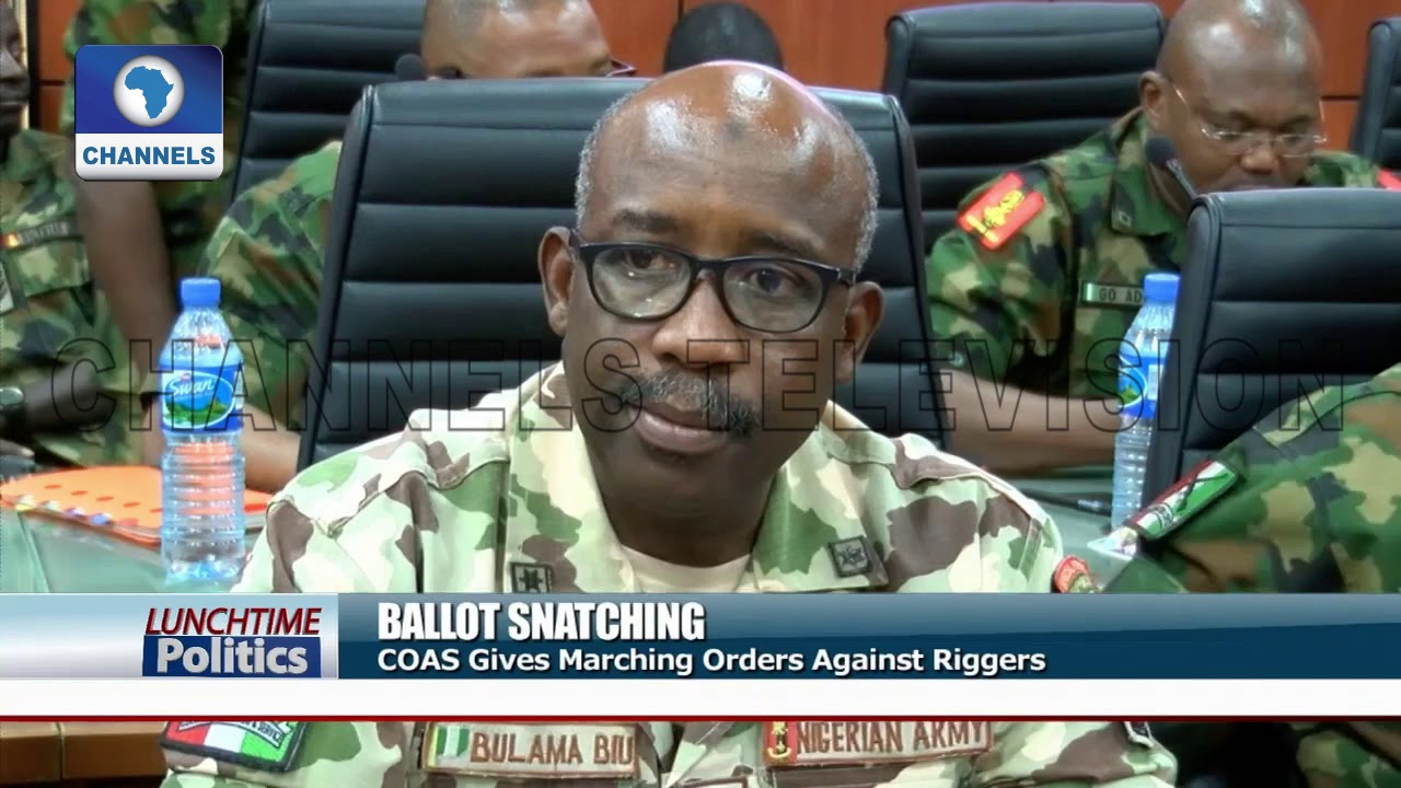 Ballot Snatching: COAS Gives Marching Orders Against Riggers |Lunchtime Politics|