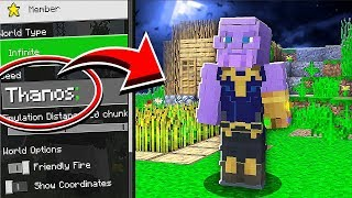 Do NOT Use The THANOS Seed in Minecraft!