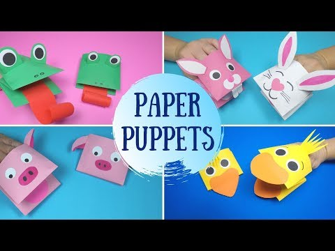How to Make Paper Puppets | 5 Easy Paper Puppets
